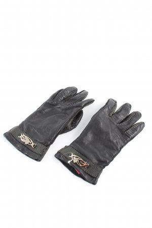 Etro Leather Gloves black casual look