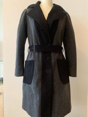 Etro Abrigo de lana gris-negro