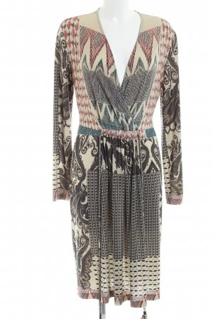 Etro Milano Blouse Dress cream abstract pattern casual look