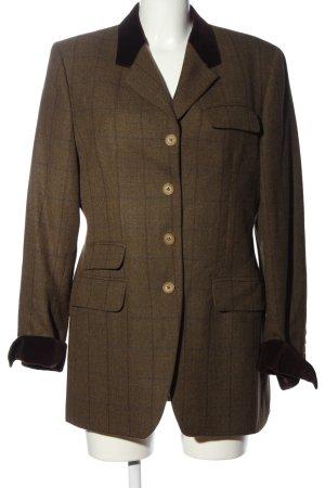 Etro Milano Boyfriend blazer bruin geruite print klassieke stijl