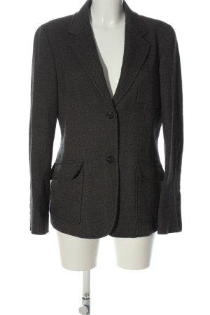 Etro Milano Boyfriend blazer lichtgrijs-zwart zakelijke stijl