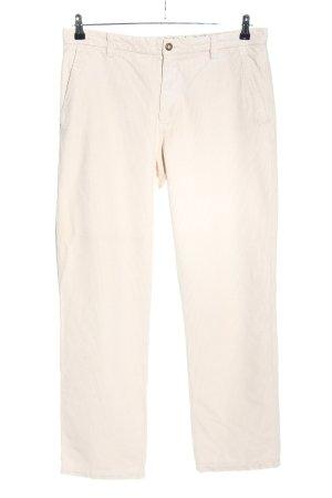 Etro Milano Pantalon en velours côtelé blanc cassé motif rayé