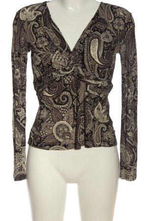 Etro Milano Langarm-Bluse abstraktes Muster Casual-Look