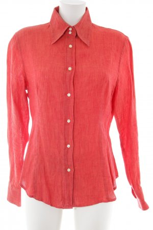 Etro Milano Langarm-Bluse rot Business-Look