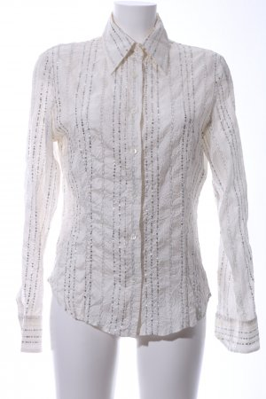 Etro Milano Langarm-Bluse wollweiß Casual-Look