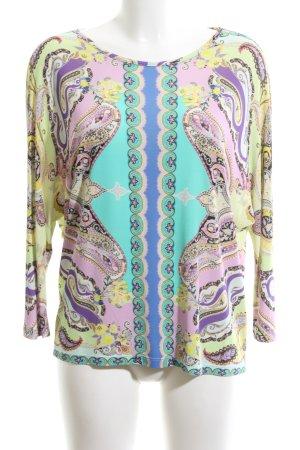 Etro Milano Print-Shirt türkis-grün abstraktes Muster Casual-Look