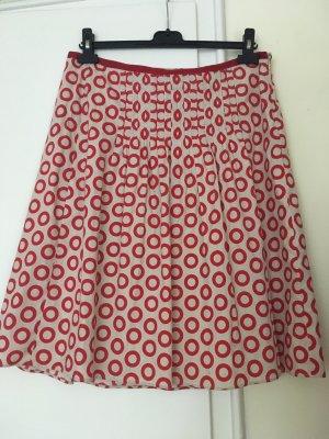 Etro Plisowana spódnica jasnobeżowy-czerwony