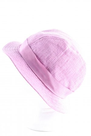 Etro Milano Sun Hat pink flecked casual look