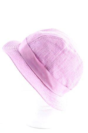 Etro Milano Chapeau de soleil rose moucheté style décontracté