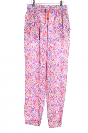 Etro Milano Stoffhose pink-lila Allover-Druck Casual-Look