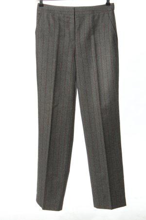 Etro Milano Wollen broek lichtgrijs-rood gestreept patroon klassieke stijl