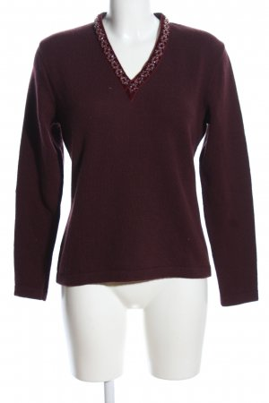 Etro Milano Wollpullover lila Casual-Look