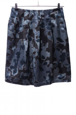 Etro Minirock schwarz-blau abstraktes Muster Elegant