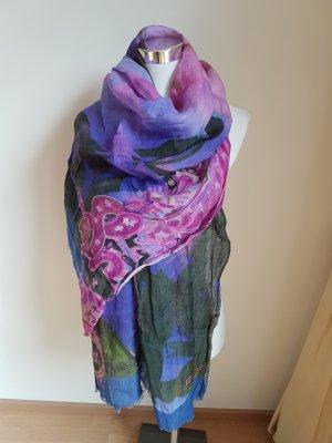 Cashmere Scarf multicolored linen