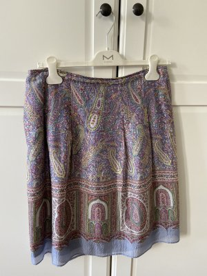 Etro Silk Skirt azure-purple