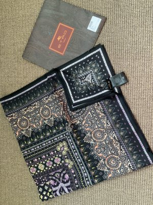 Etro Silk Cloth black silk