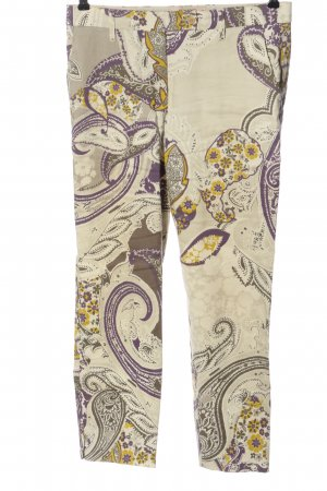 Etro Jersey Pants natural white-lilac themed print casual look