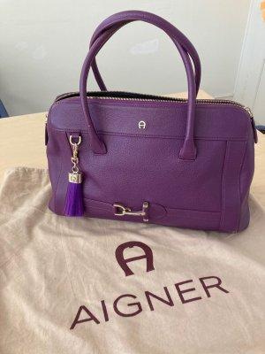 aetienne aigner Sac Baril violet