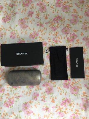 Chanel Gafas de sol redondas color oro-negro