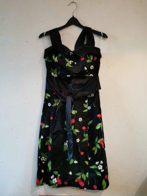 Etui Kleid mit Kirschdruck