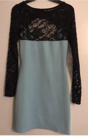 Etui Kleid mit spitze hellblau Gr 10 / 38 NEU