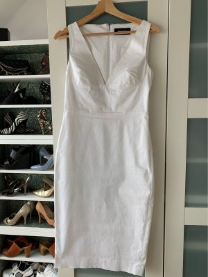 Dsquared2 Robe fourreau blanc coton