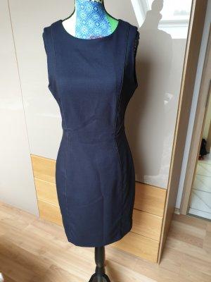 H&M Robe fourreau noir-bleu foncé