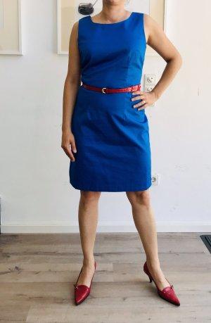 Etuikleid, 38, blau, Baumwolle