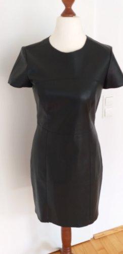 Mango Suit Vestito in pelle nero