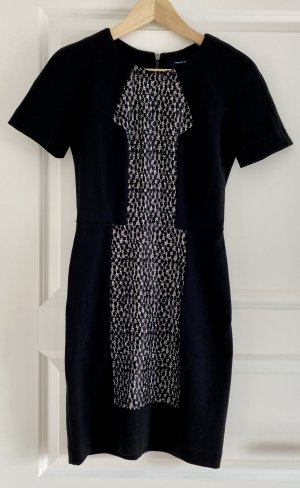 French Connection Sheath Dress black-white
