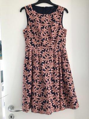 Etuikleid Businesskleid Sommerkleid dunkelblau Blumenmuster, Orsay 38