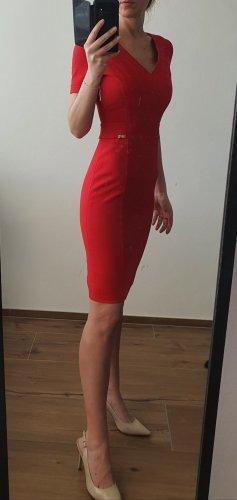Versace Robe fourreau rouge brique lycra