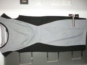 Etuikleid grau-schwarz