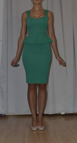 Vesper Peplum Dress green