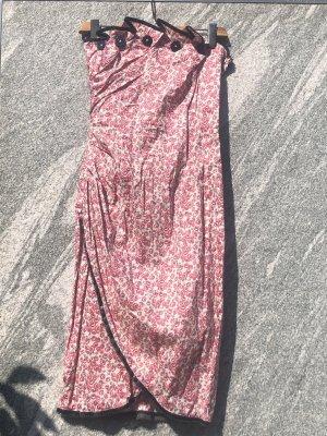 Lena Hoschek Abito aderente bianco-rosa