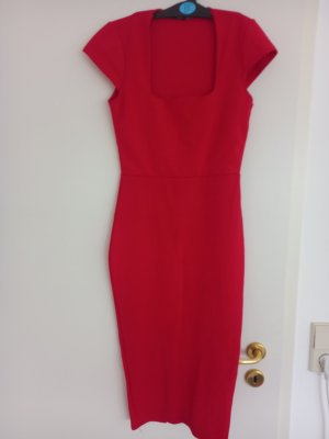 Boohoo Midi Dress red