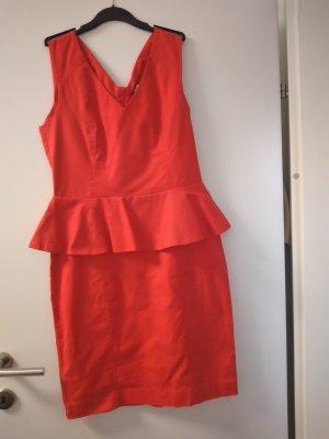 H&M Robe péplum rouge