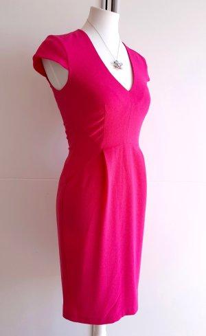Etuikleid Pink mit V-Ausschnitt und Kappenärmeln Gr. 36 Minikleid Bodycon