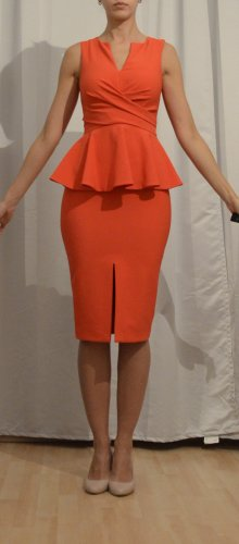 Miss Selfridge Peplum Dress bright red
