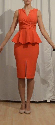 Miss Selfridge Peplum Dress bright red