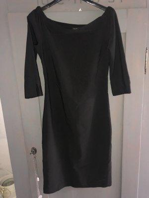 Etuikleid schwarz mit Carmen Ausschnitt Gr. 38 M