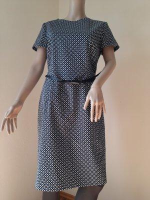 Montego Sheath Dress black-white cotton