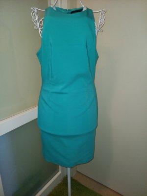 Zara Off-The-Shoulder Dress turquoise