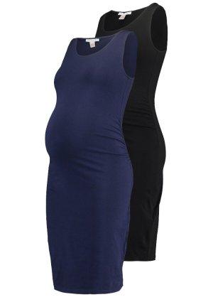 Anna Field Mama Jersey Dress blue-black