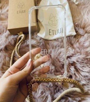 Etuui Pokrowiec na telefon komórkowy beżowy-kremowy