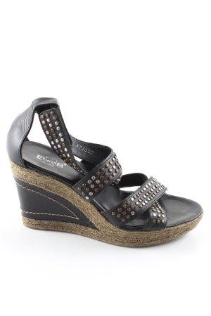 EtwoB Wedges Sandaletten schwarz Casual-Look