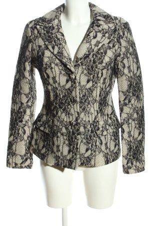 Etxart & Panno Jerseyblazer wollweiß-schwarz Blumenmuster Elegant