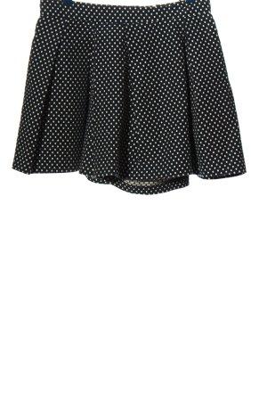 Etxart & Panno Skort noir-blanc motif de tache style décontracté