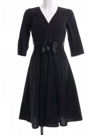 Eucalyptus A-Linien Kleid schwarz Elegant