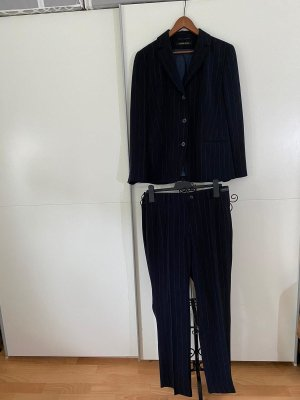Eugen Klein Costume business bleu foncé-blanc polyester